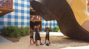 Alianna, Amari and Jaidan in Disney World